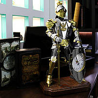 Подарочный рыцарь с часами высотой 60 см