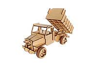 Механический деревянный 3D пазл РЕЗАНОК Грузовой автомобиль 73 элемента (REZ0010)