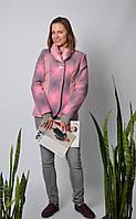 Жакет женский комбинированй розовый, фото 1