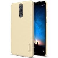 Чехол для сматф. nillkin huawei mate 10 lite - frosted shield (gold)