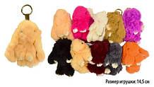 М'яка іграшка-брелок Пухнастий Кролик з натурального хутра