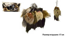 М'яка іграшка-брелок Пухнастий Лисичка з натурального хутра