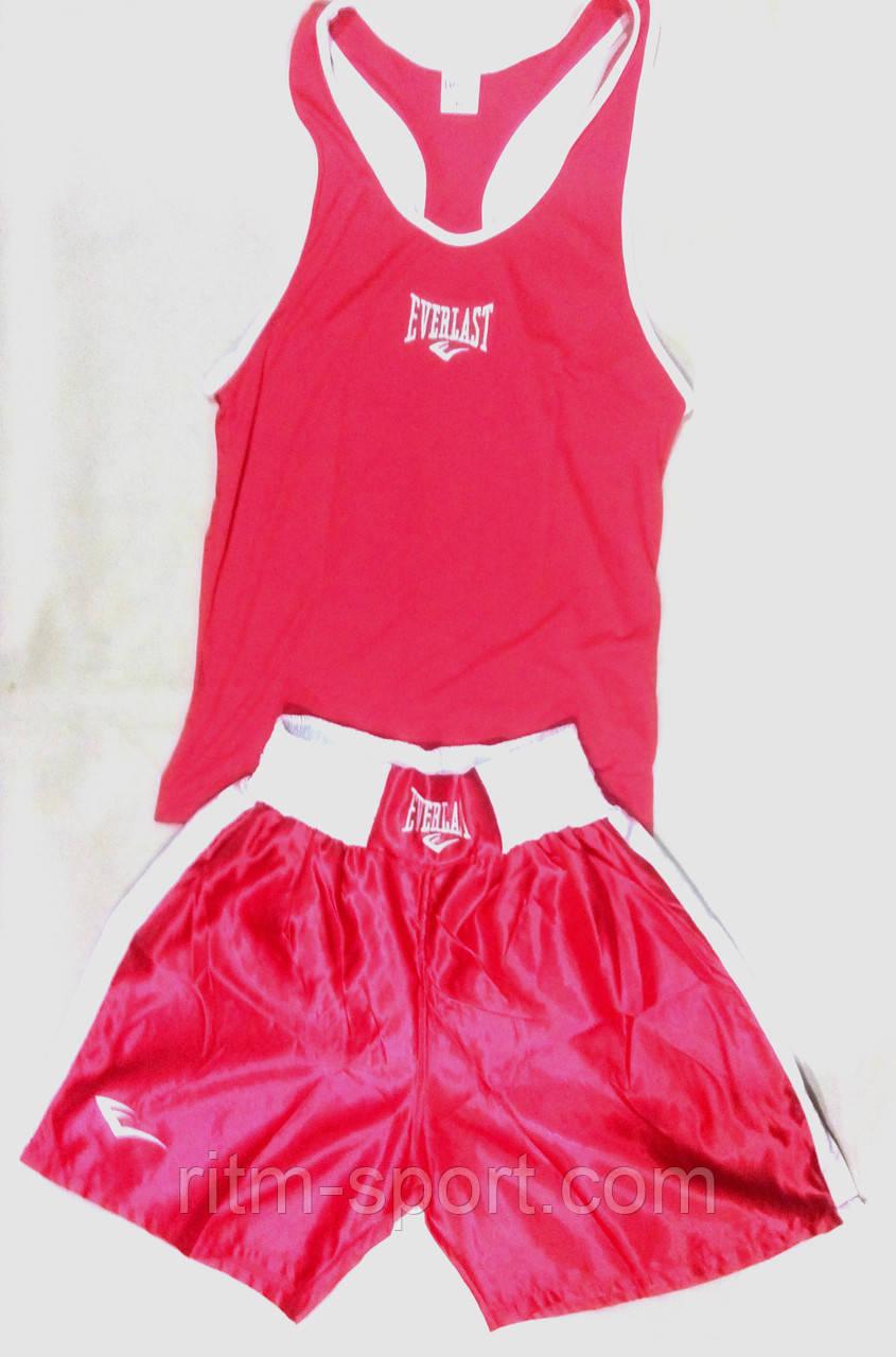 Боксерская форма красная (размер от 42 до 52)