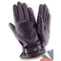 Мужские перчатки из натуральной кожи на шерстяной подкладке модель 463.
