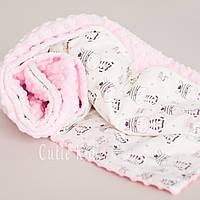 """Конверт-одеяло на выписку для новорожденной """"Жирафики"""""""