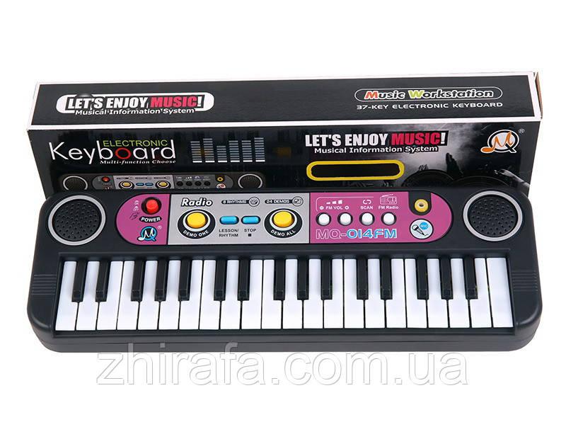 Пианино-синтезатор детский с микрофоном и радио MQ014FM