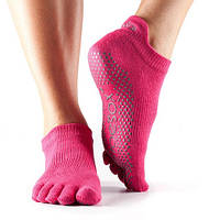 Носки для йоги ToeSox Grip Full Toe Low Rise (Fuchsia) M