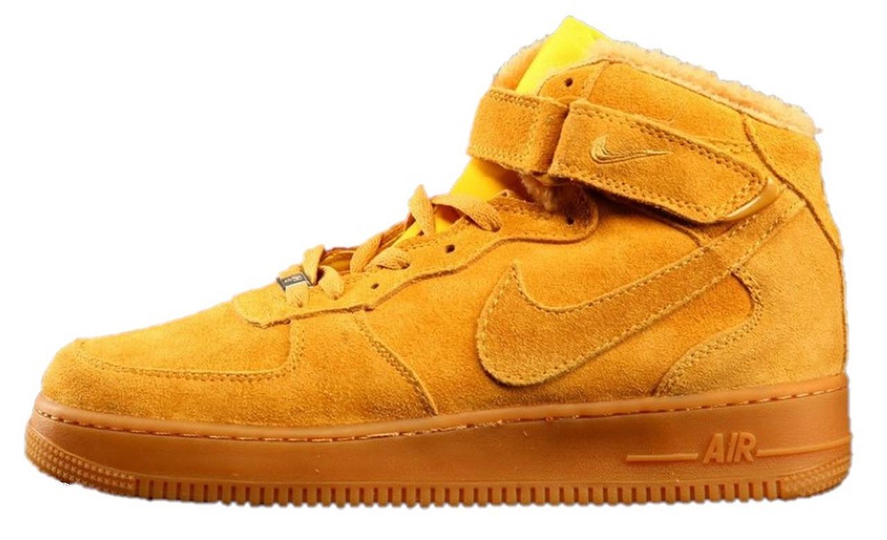575d3c28 Зимние мужские кроссовки Nike Air Force High (Найк аир форс, рыжие) на меху