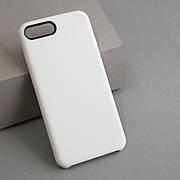 Кожаный чехол без яблочка на iPhone 7 plus / 8 plus White