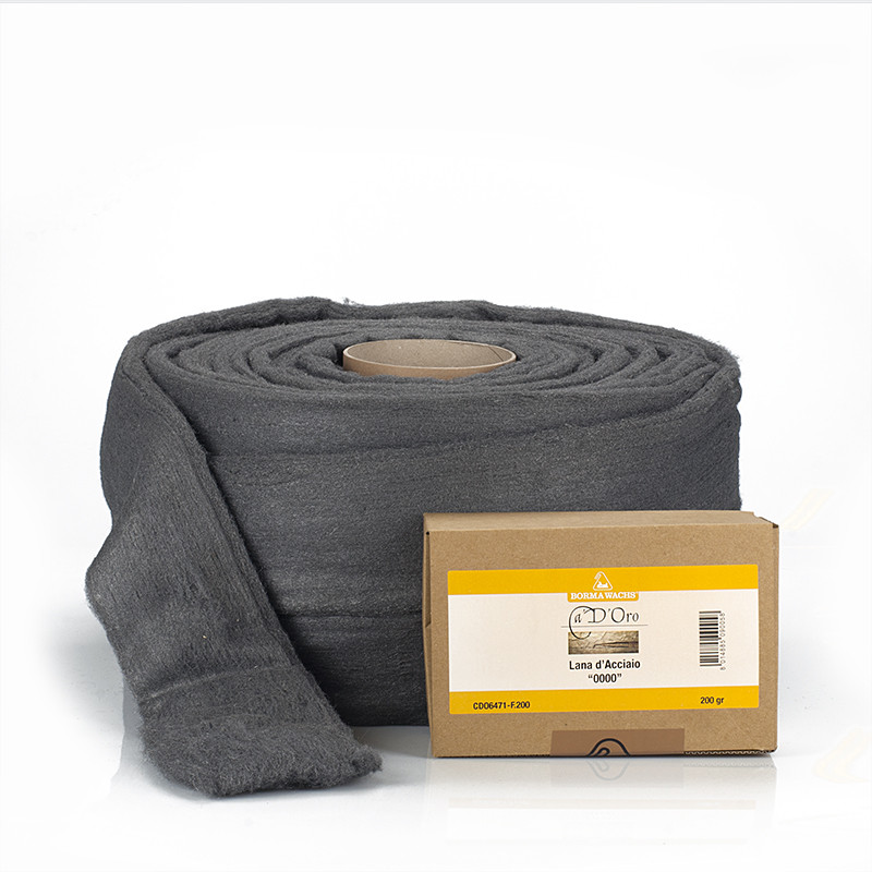 Стальная вата, шерсть 0000, Steel Wool, 5 кг., Borma Wachs