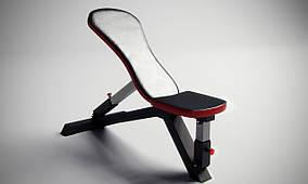 Профессиональная скамья с регулируемым углом наклона спинки