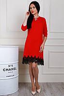 Очень красивое молодежное платье красного цвета
