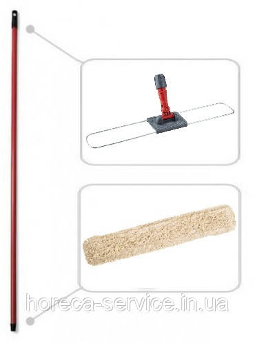Рукоятка screw+Держатель мопа сухой уборки 80см.+Моп сухой уборки 80см.
