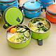Переносная ёмкость для хранения продуктов 3 Layer Stainless Steel Lunch Box (3 шт.), фото 2