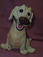 Собака копилка барбос декоративная статуэтка фигурка 15,5 сантиметров высота