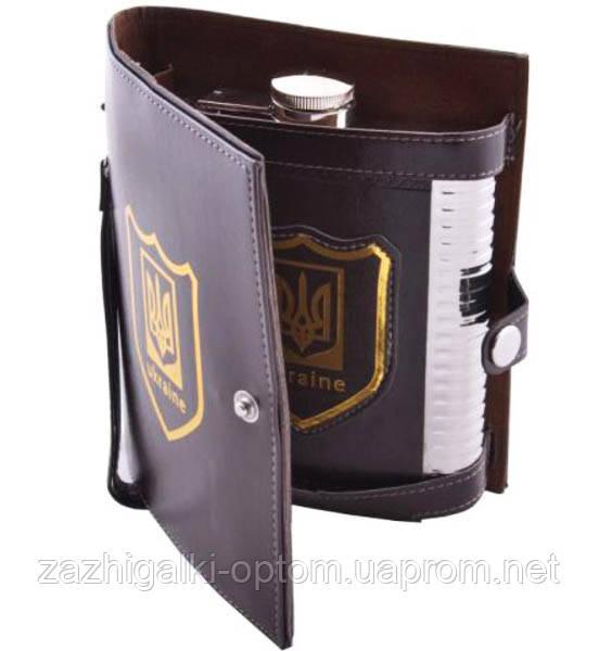 Фляга PJ-18 барсетка Украина кожа