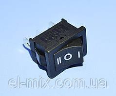 Выключатель MRS-103 черный 1-группа ON-OFF-ON  PRK0004