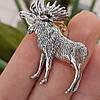 Охотничий значок из серебра Лось