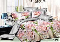 """Ткань для постельного белья, ранфорс 3D """"Розы"""""""