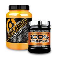 Гейнер SN Jumbo Hardcore (1530gr) | SN 100% Creatine monohydrate(300 г )