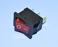 Выключатель 220В KCD1-101N-2 красный 1-группа ON-OFF  11-0472RD