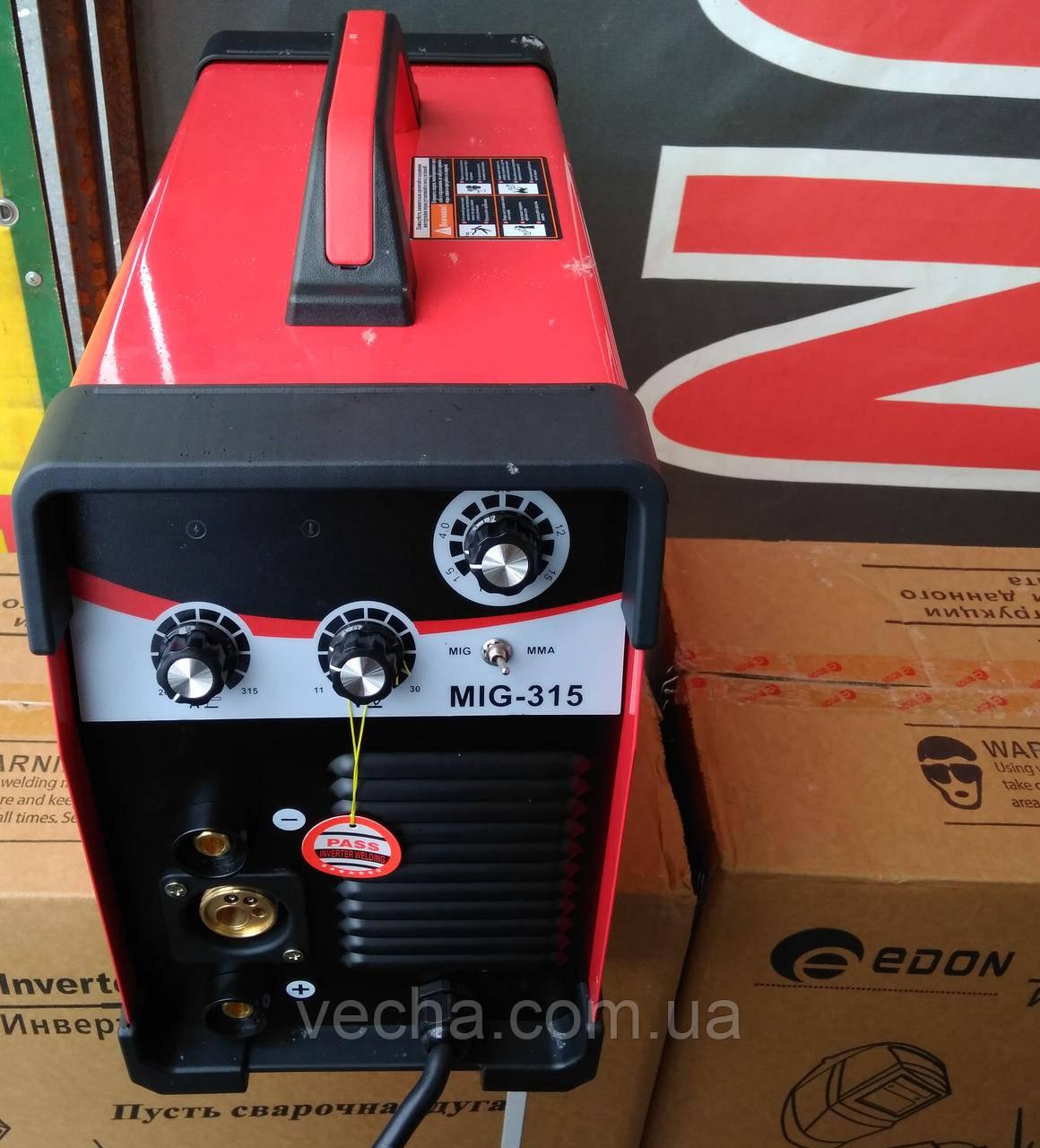 Сварочный полуавтомат Edon MIG 315 (7.2 кВт,IGBT транзисторы, 2 вентиляторы)