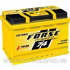 Аккумулятор автомобильный Forse original 74AH R+ 720A