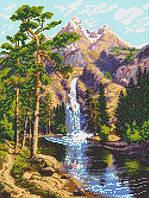 """Схема для вышивки """"Горный водопад"""""""