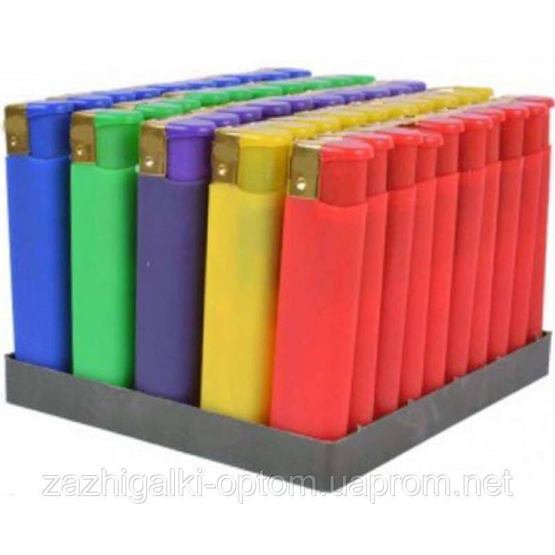 Зажигалка пластиковая обычное пламя Резина цветная 833-7 *