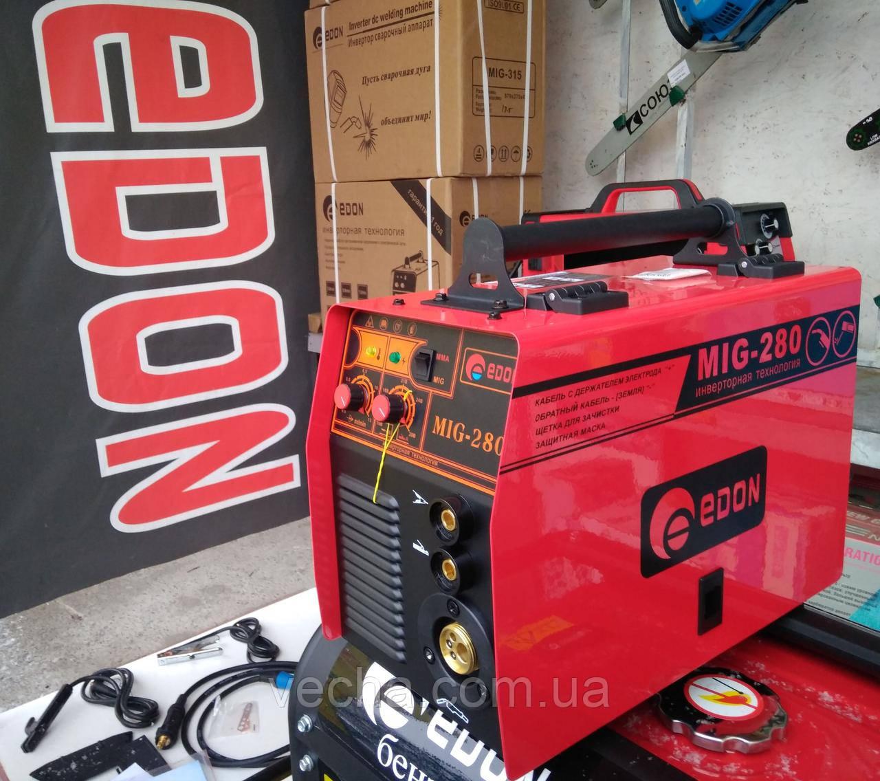 Сварочный полуавтомат Edon MIG 280 (+ MMA) еврорукав