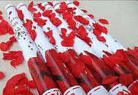 Хлопушка с лепестками роз (красные)
