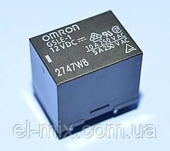 Реле 12V 1группа  G5LE-1-12 (=JQC-3F-1C) (10А 240V) 5pin on-on  Omron