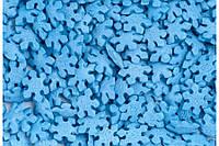 Посыпка кондитерская Перламутровые снежинки синие 5 грамм, фото 1