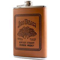 Фляга обтянута кожей Jim Beam BP-9-3 (256ml)