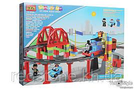 Конструктор JIXIN 8288D Железная дорога паровозик Томас 59 дет.