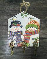 Ключница Новогодняя в комплекте с декоративными ключиками