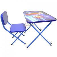 Детская парта Ommi со стульчиком Турбо Синяя Код:36337