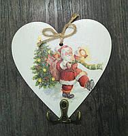 Ключница Новогодняя в виде сердечка