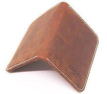 Картхолдер натуральная кожа винтажный коричневый, фото 3