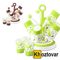 Набор из 6 кружек 0.415л на подставке Cup Holder Candy Tree A 363