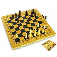 Нарды+шахматы из бамбука (29,5х29х2,5 см) Код:24034