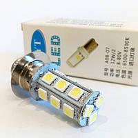 """Лампа фары LED Delta  P15d-1 12w/12w (1ус) """"кукурузка"""""""