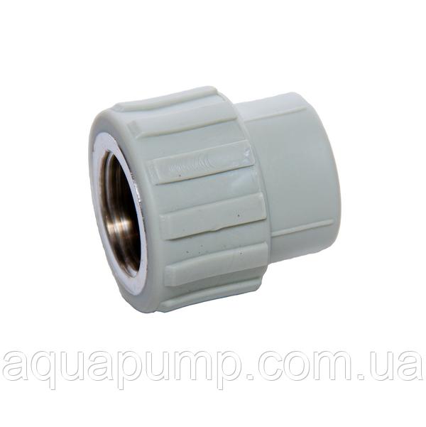 Муфта PPR с ВР 25х3/4 220/22 GRE Aqua Pipe