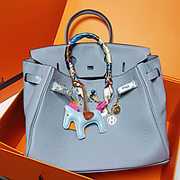 Роскошная женская сумка Гермес Биркин 35 см красная (реплика) 577dc14780aca