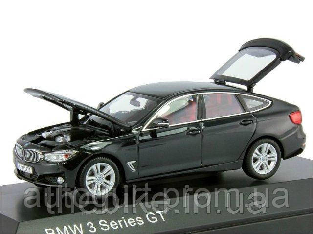 Модель автомобиля BMW 3 Series GT (F34) Black Sapphire, Scale 1:43