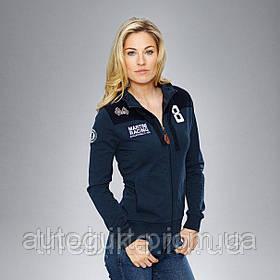 Женская толстовка Porsche Women's Sweat Jacket Martini Racing, Dark Blue