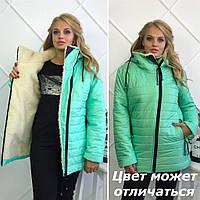 """Зимняя куртка """"Polaris"""" + 3 новых цвета 46, мятный"""