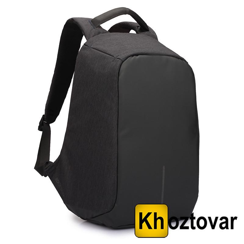Рюкзак-антивор с USB портом Bobby Backpack Чёрный