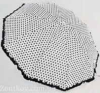 """Зонт в горошек на 10 спиц и с рюшей по куполу от фирмы """"SL""""."""