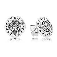 Серьги Pandora серебро 925 пробы.